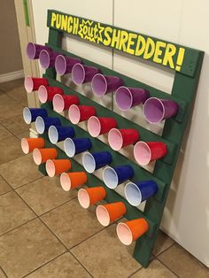 Punch out shredder ninja turtles birthday party game.