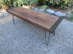 Everything 10% Off Sale. Industrial Bench, Antique Barn wood, Steel hairpin legs, Reclaimed, Rustic, Character.