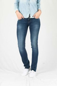 """Aspen Eriana Jeans by LTB have curved waistband, rivetted 5 pockets, leather logo patch to rear waistband. Has a zip fly with logo button waist. Slim fit jeans from LTB in a dark stretch denim. Measures 36"""" inside leg, inseam is 92cm (W27/L36). Slim fit regular rise classic jean. Great stretch comfort fit in a true denim wash with slight fading on the front."""