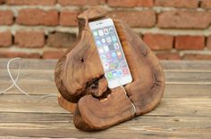 IPhone de madera masiva estación Dock iPhone madera 6 Plus