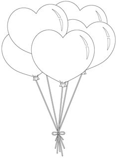 *heart balloon bunch unbelievable number of free digis really good quality wonderful person to make these available to others Source by suzibelle. Colouring Pages, Adult Coloring Pages, Coloring Sheets, Coloring Books, Heart Coloring Pages, Applique Templates, Applique Patterns, Felt Crafts, Paper Crafts