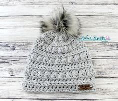 Light gray beanie Crochet hat Winter hat Chunky hat Beanie