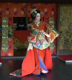 Geisha dancing