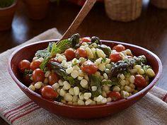 Corn, Cherry Tomato and Asparagus Salad with Lemon Mint Vinaigrette
