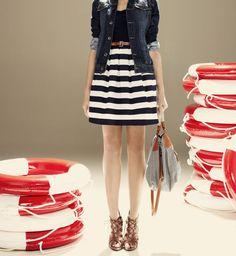 navy + stripes