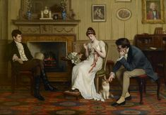 A morning call. 'The Patient Competitors' by Charles Haigh Wood, 1892