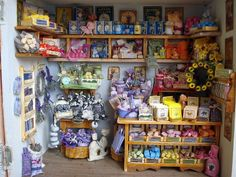 Miniature Shop with soaps, herbs, and gifts