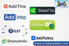 7 Sites de Botões de Compartilhamento mais Utilizados - Blogsite Oficial - CRISTIAN SALLES