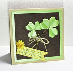 Card Technique: How to make shamrocks and simple-leafed  flowers like violet and pansies.
