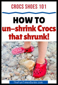 Did Your Cute Crocs Shoes Shrink? See the most common situations when Crocs tend to shrink. Which is good to know if your Crocs shoes happen to be too big OR too small! Learn how to unshrink Crocs -- if you need to make them BIGGER. Also, how to shrink Crocs -- if you need to make them SMALLER! #crocs #crocsshoes #cutecrocsshoes