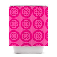 Kess InHouse Nicole Ketchum Moroccan Hot Pink Wall Tapestry 51 X 60