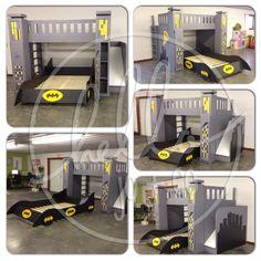 Superhero Bed Bat Cave Bed In Brooks Room Used Ikea