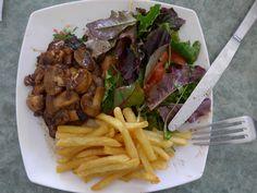 Foie de bœuf sauce champignon - Steak hati sapi saus jamur