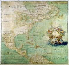 "Terres Inconnues (The Americas in 1681, according to the French: ""This map shows the results of the expeditions of Father Marquette and L. Jolliet (1673) and the Cavelier de la Salle expedition in the Mississipi valley."") via Wiki Commons"