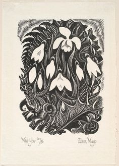 New Year Wood-engraving. Collection of Christchurch Art Gallery Te Puna o Waiwhetu, presented by Rex Nan Kivell Linocut Prints, Art Prints, Block Prints, Engraving Art, Engraving Picture, Engraving Ideas, Deco Boheme, Linoprint, Woodblock Print