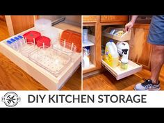 (241) 3 More Easy Kitchen Organization Projects | Home Storage - YouTube