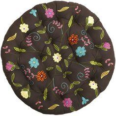 Papasan Cushion - Floral Embroidery