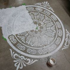 Stencil for painting / patina. Can be washed and reused. Large corner stencil…