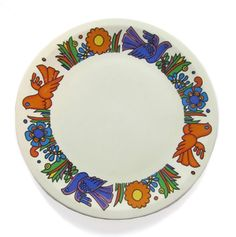A 1960's Villeroy and Boch dove plate. Offered by Robinson Antiques
