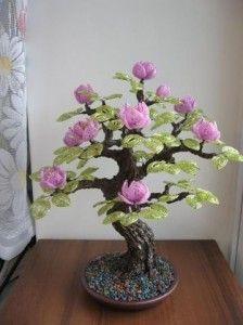 bonsai de mostacillas - Buscar con Google #Bonsaiporcelanafria