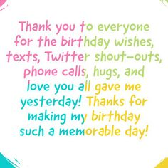 Thanks msg, thanks message for birthday wishes Birthday Thanks Message, Thank You For Birthday Wishes, Birthday Wishes Messages, Birthday Blessings, Birthday Greetings, Hbd Quotes, Smile Quotes, True Quotes, Thanks Messages