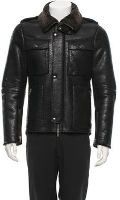 Mackage Leather Shearling Jacket
