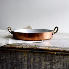 Vintage French Copper Pan on Etsy