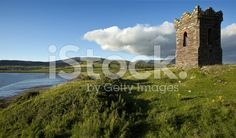 Old stone Watch tower over looking Dingle Bay Co. Kerry royalty-free stock photo