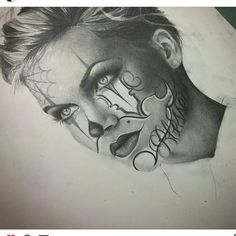Fantasy Drawings, Art Drawings, Payasa Tattoo, Art Projects For Adults, Flower Sleeve, Chicano Art, Halloween Looks, Pattern Drawing, Tattoo Sketches