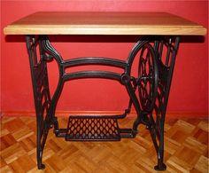 Stół ze starej maszyny do szycia - czterolistnakoniczyna - Stoły