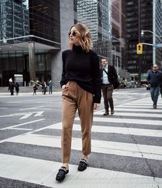 """a753db65e8 Jill Lansky, Beauty + Style on Instagram: """"Feeding my trouser obsession in  these new camel beauties from @massimodutti... Their Yorkdale store is full  of ..."""