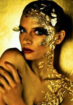 Face painting .....halloween idea- being gold...