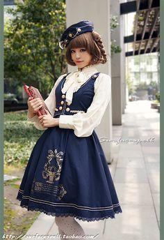 -歐石楠下的歌聲學院風馬甲連衣裙JSK-表面咒語Lolita 2014.04