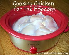 Cooking Chicken for the Freezer {Batch Cooking}