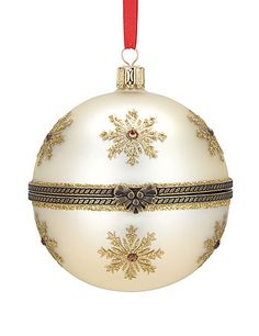 Reed & Barton Hinged Nativity Ball Ornament