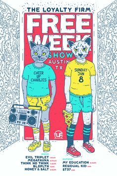 """Check out my @Behance project: """"Austin, TX FREE WEEK Gig Poster"""" https://www.behance.net/gallery/46661461/Austin-TX-FREE-WEEK-Gig-Poster"""