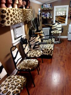 This salon was pimped out in a blanket of fun!