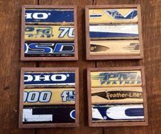 Hockey Stick Coasters (Set of 4) by KDCobbleShop on Etsy https://www.etsy.com/listing/121106200/hockey-stick-coasters-set-of-4