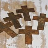 Primitive Rusty Tin Crosses