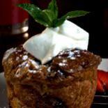 Trio, chocolate banana cream pie, milk chocolate hazelnut bar and warm ...