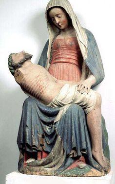Pietà Lilla Beddinge, region of Skåne, Sweden Made in south of Scandinavia, oak ca. 1400
