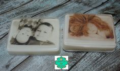 Get your favorite photo turned into a bar of soap! Your photo is printed on special paper that will dissolve in water, then embedded in a 4oz Shea Butter soap in the scent of your choice.  As April's Soap of the Month they are ON SALE! And make a great Mother's Day gift. When ordering, please ...