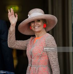 Queen Maxima of The Netherlands smiles after comleting her regional tour of north west Friesland province on June 13, 2016 in Harlingen, Netherlands. (Photo by Michel Porro/WireImage)