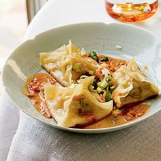 10 5-Star Appetizers from Cooking Light  | Ginger-Shrimp Pot Stickers with Spicy Peanut Dipping Sauce | MyRecipes.com