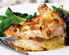 Almond-Crusted Apricot and Brie  Stuffed Chicken Breast