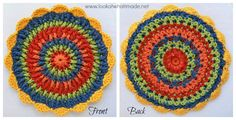 Front Post Frenzy Crochet Potholder With Scallops Front Post Frenzie Crochet Potholder