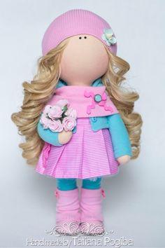 Купить Рита - текстильная кукла, кукла ручной работы, авторская ручная работа, Кукольный трикотаж