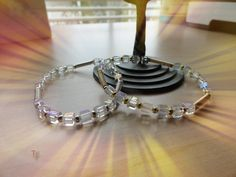 Miyuki Glass Cube Beads and Wire Coil Stretch Bracelets/Gender Neutral Jewelry/Gift Idea/Sizes available for Teens and Adults by TremorsToTreasures on Etsy