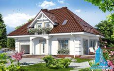 Proiect de casa cu parter, mansarda, garaj si terasa de vara | Proiectari si Constructii