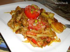 Ázijské rezance - menu na Silvestra - recept Chili, Meat, Chicken, Chile, Chilis, Cubs
